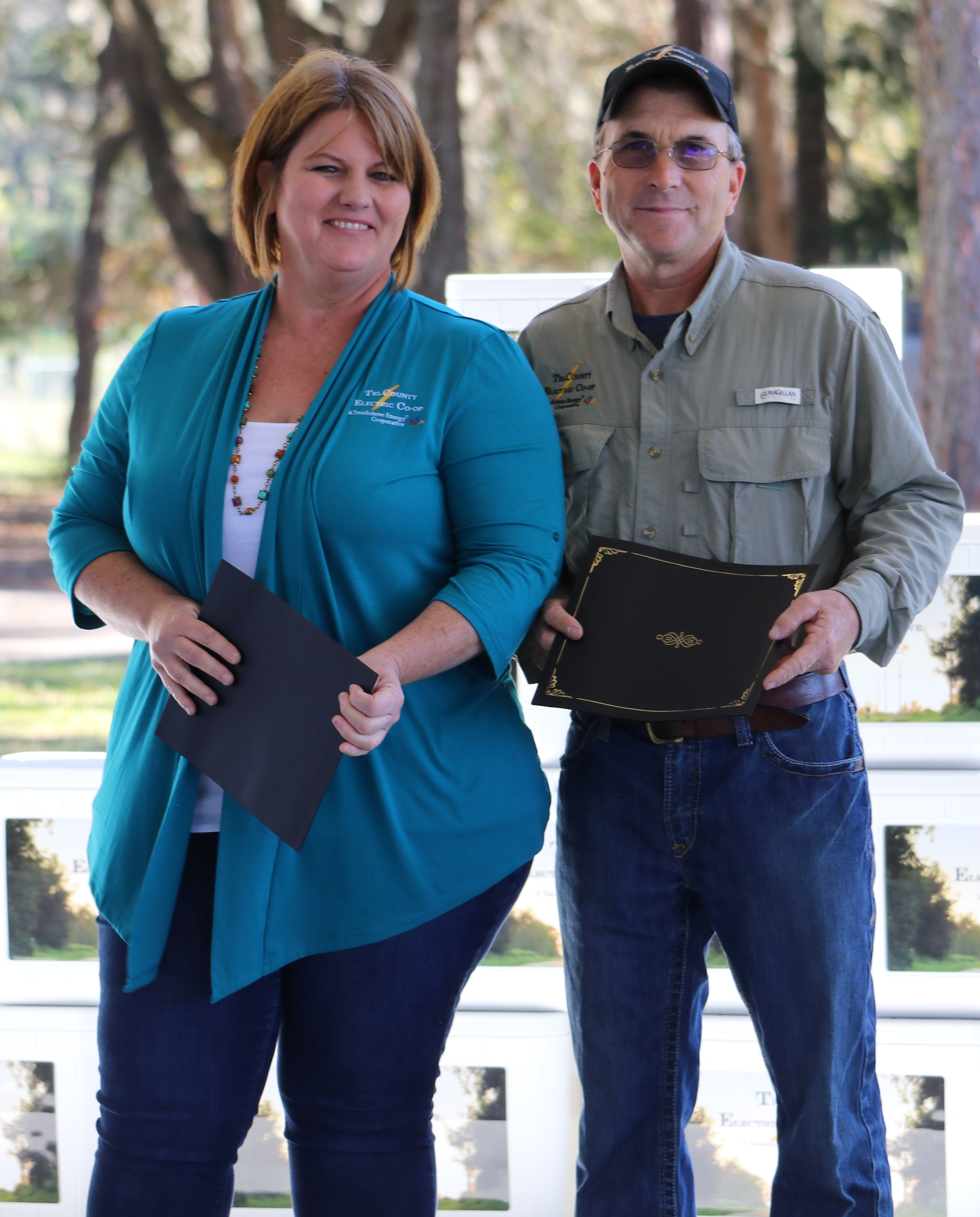 Amy Straka and Allen Welch recognized for completing the supervisory training