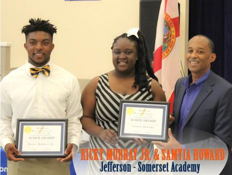 Jefferson Somerset Winners - Ricky Murray Jr and Smayia Howard - presented by Julius Hackett, CEO