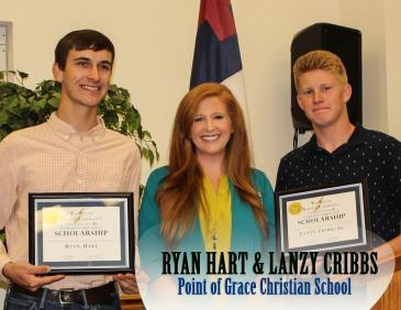 Point of Grace Winners - Ryan Hart and Lanzy Cribbs presented by Kaitlynn Culpepper