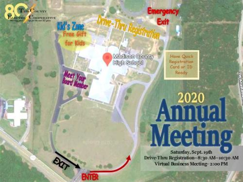Annual Meeting Drive-Thru Registration Layout