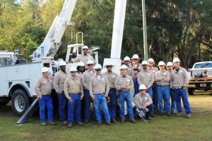 TCEC Linemen Posing for a Picture